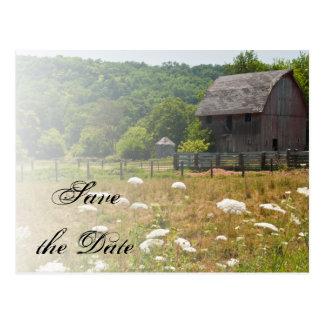 Het doorstane Huwelijk van het Land van de Schuur Briefkaart