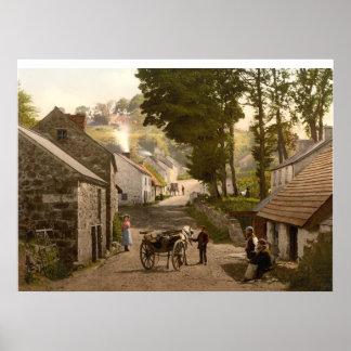 Het Dorp van Glencoe, Provincie Antrim, Noord-Ierl Poster