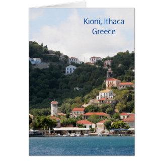 Het dorp van Kioni op Ithaca, Griekenland Briefkaarten 0