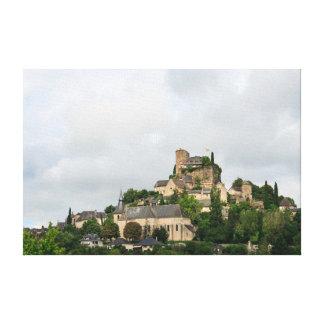 Het dorp van Turenne in Frankrijk Canvas Print