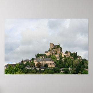Het dorp van Turenne in Frankrijk Poster