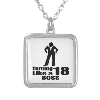 Het draaien van 18 als een Werkgever Zilver Vergulden Ketting