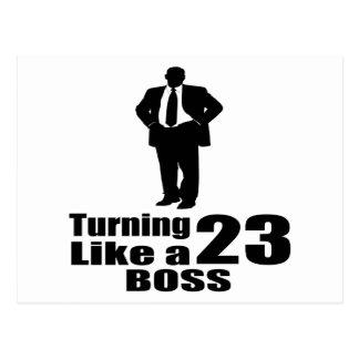 Het draaien van 23 als een Werkgever Briefkaart