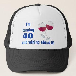 Het draaien van 40 met het Pet van de Glazen van