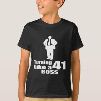 Het draaien van 41 als een Werkgever T Shirt