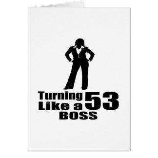 Het draaien van 53 als een Werkgever Briefkaarten 0