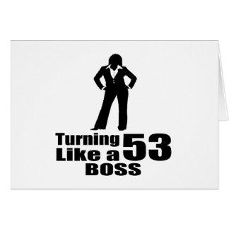 Het draaien van 53 als een Werkgever Kaart