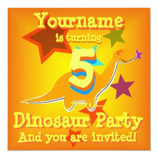 Het draaien van 5 Uitnodigingen van de Partij van