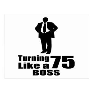 Het draaien van 75 als een Werkgever Briefkaart