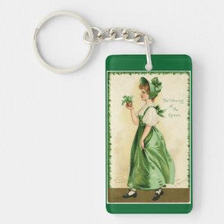 Het dragen van Green Sleutelhanger
