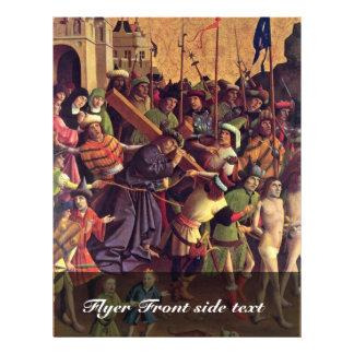 Het dragen van het Kruis door de Pas van Meister Flyer 21,6 X 27,9 Cm