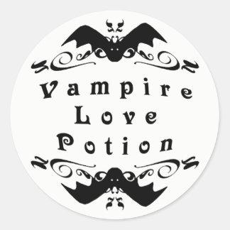 Het Drankje Halloween van de Liefde van de vampier Ronde Sticker