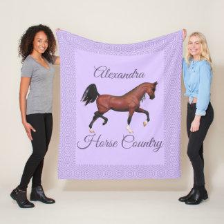 Het dravende Land van het Paard van het Paard van Fleece Deken
