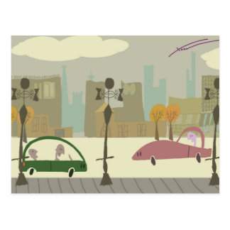 Het drijven in de Stad Briefkaart