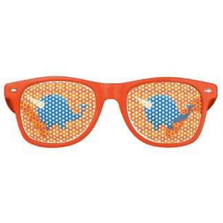 Het drijven Narwal - de Glazen van de Partij Retro Zonnebril