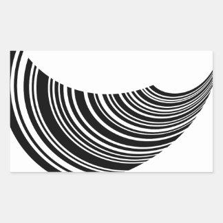 Het drijven streepjescode rechthoek sticker