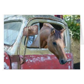Het drijven van de auto paard kaart