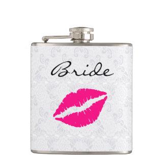 Het Drink van de roze Bruid van Lippen Fles Heupfles