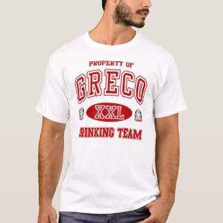 Het Drink van Greco de Italiaanse t-shirt van het