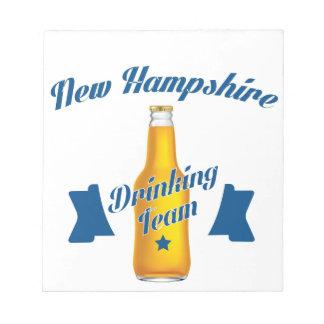 Het Drinkde team van Newhampshire Kladblokken