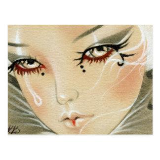 Het droevige Briefkaart van de Traan van de Nar