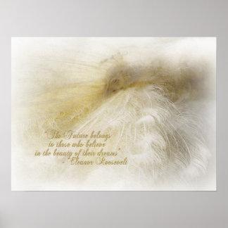 Het dromen in Wit Poster