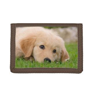 Het Dromen van het Puppy van het golden retriever Drievoud Portemonnee