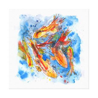 Het Dromen van Koi Canvas Afdruk