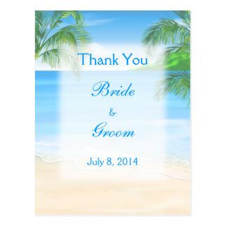 Het dromerige Huwelijk van het Strand dankt u Briefkaart