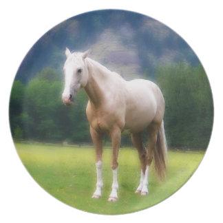 Het dromerige Schilderen van het Paard Palomino Bord