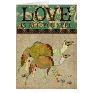 Het dromerige Wenskaart van de Liefde van Kamelen