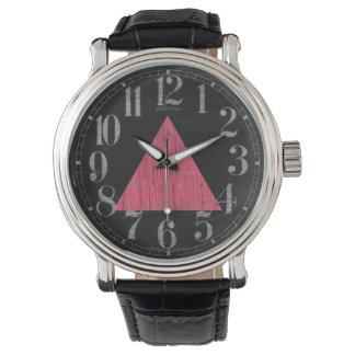 Het dubbel stempelde Roze Driehoek Horloge