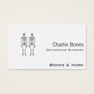Het dubbele Menselijke Wit van Skeletten Visitekaartjes