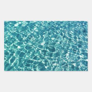 Het duidelijke Blauw van het Water Rechthoekige Sticker
