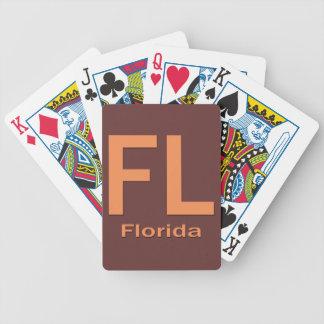 Het duidelijke sinaasappel van FL Florida Pak Kaarten
