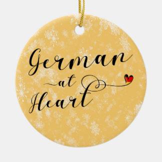 Het Duits bij de Decoratie van de Vakantie van het Rond Keramisch Ornament