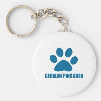 HET DUITSE DESIGN VAN DE PINSCHER- HOND SLEUTELHANGER
