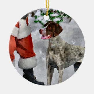 Het Duitse Kortharige Ornament van Kerstmis van de
