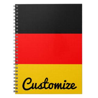 Het Duitse Notitieboekje van de Douane van Ringband Notitieboek
