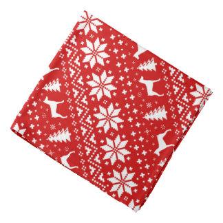 Het Duitse Rood van het Patroon van Kerstmis van Bandana
