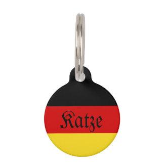 """Het Duitse (Vrouwelijke) Label van de Kat """"Katze"""" Huisdierpenning"""