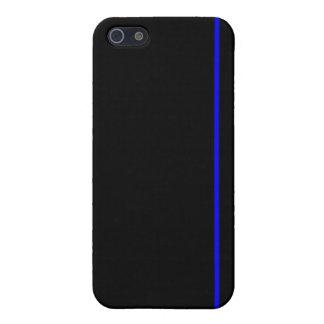 Het dunne blauwe hoesje van lijniPhone iPhone 5 Case