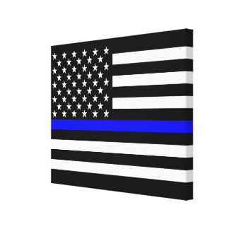 Het dunne Decor van de Vlag van Blue Line Canvas Afdruk
