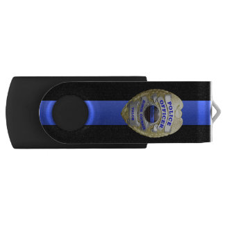 Het dunne Kenteken van Blue Line USB Stick