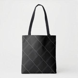 Het dunne Witte Geometrische Patroon van Draagtas