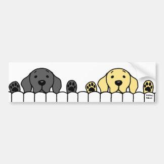Het Duo dat van Labrador op u let Bumpersticker
