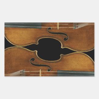 Het Duo van Stradivari Rechthoekige Sticker