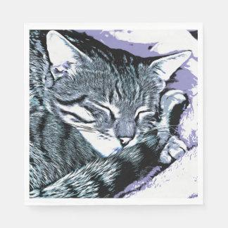 Het Dutje van het Katje van Bengalen Papieren Servetten