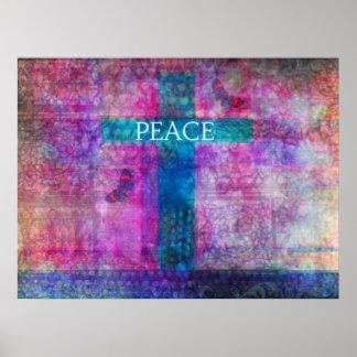 Het DWARS Eigentijdse Christelijke art. van de Poster