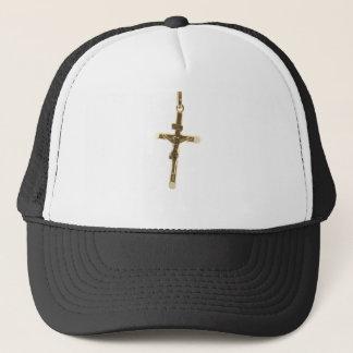 Het dwars horizontale goud van Jesus-Christus Trucker Pet
